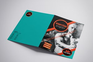 A3 Gym Fitness Brochure Template
