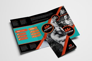 Trifold Gym Fitness Template