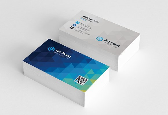 Polygon Background Business Cards