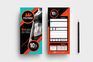 Fitness Gym DL Card Template