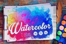 Watercolors: 15 textures