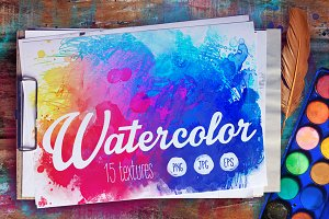 Watercolors: 15 textures