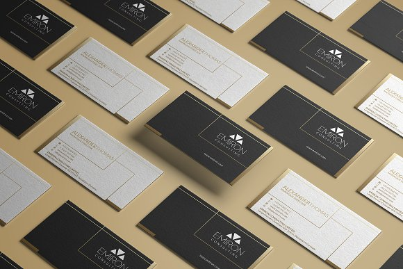 Minimal Gold Business Card