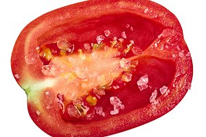 Roma tomato half salted