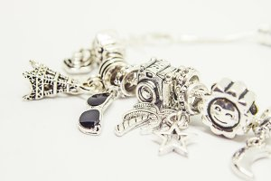 bracelet with charms.