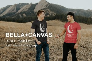 BellaCanvas3001 Friends Shirt Mockup
