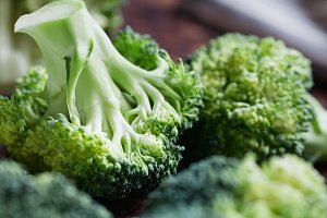 Close-up of a fresh broccoli
