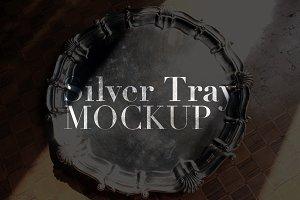 Silver Tray Mockup
