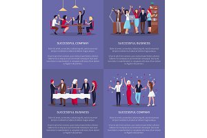 Successful Company, Business Vector Illustration