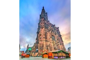 The Notre-Dame Cathedral of Strasbourg, France