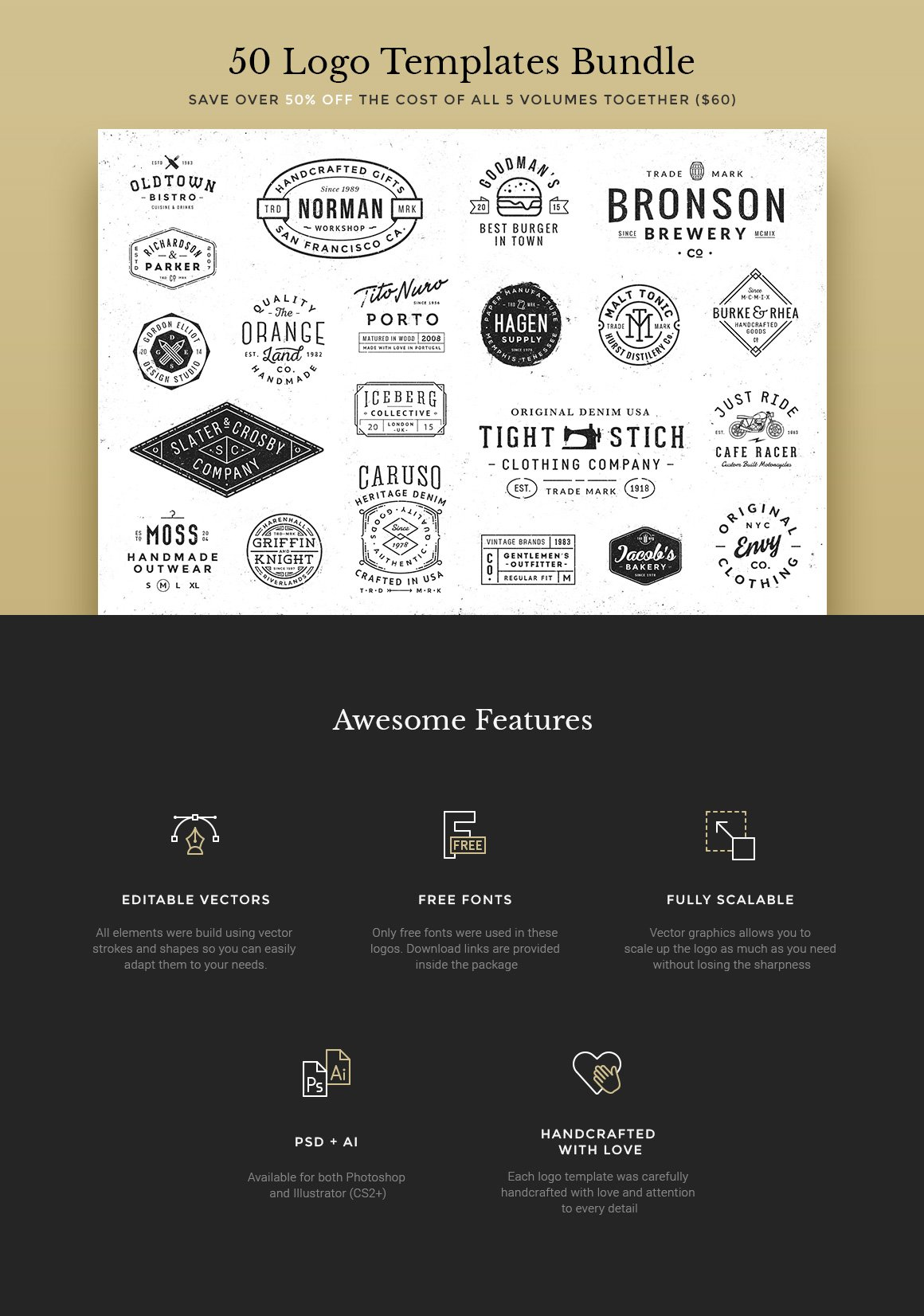 badge buddy template - 50 logo templates bundle logo templates creative market