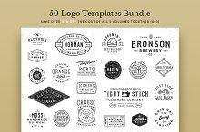 50 Logo Templates Bundle