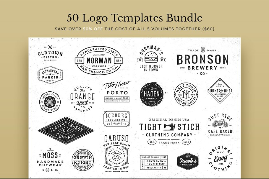 50 Logo Templates Bundle Logo Templates Creative Market