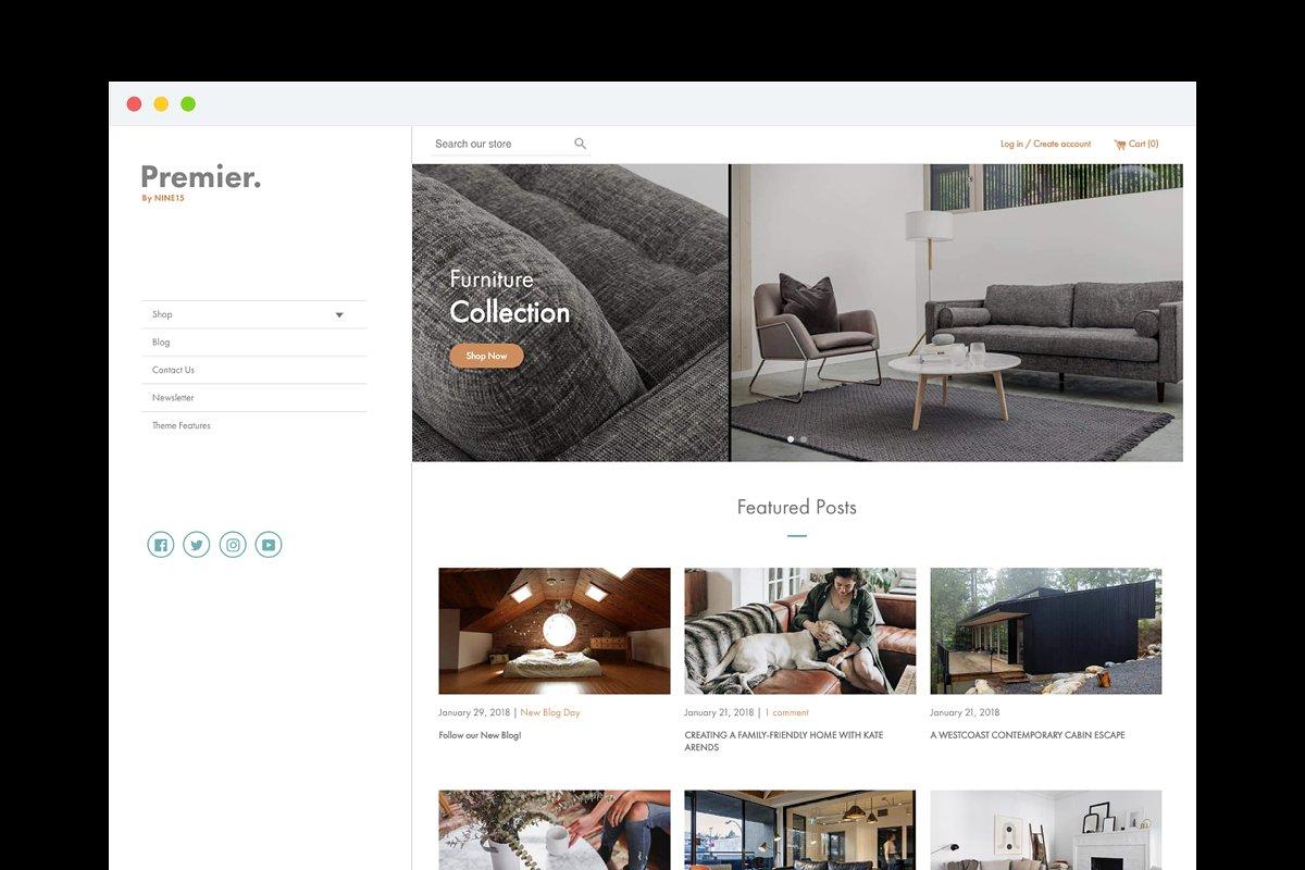 Premier Shopify Theme ~ Web Themes ~ Creative Market