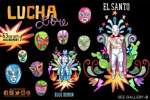 Lucha libre / Mexican wrestling clip