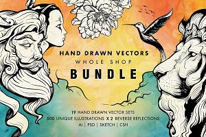 Hand Drawn Vectors Bundle