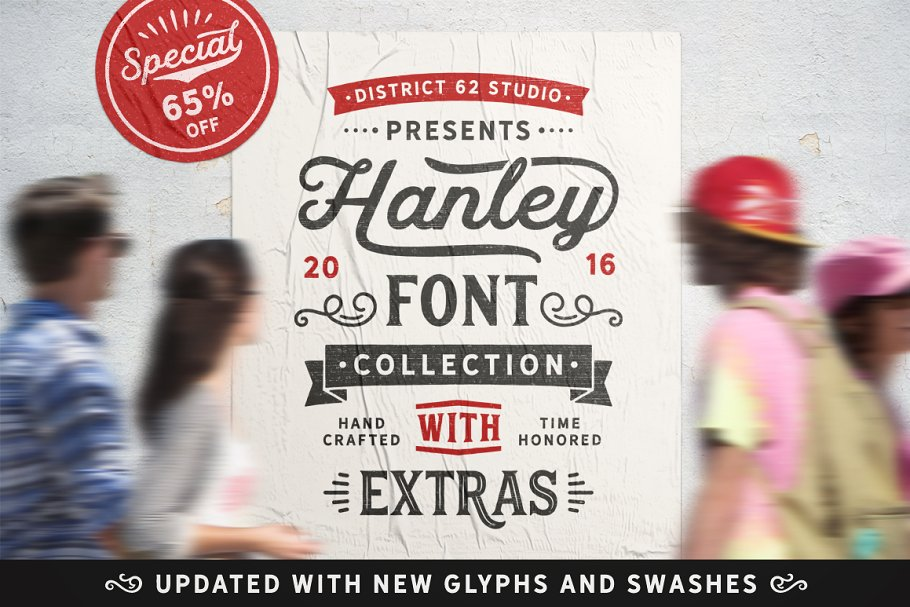 Hanley Font Collection in Script Fonts - product preview 8