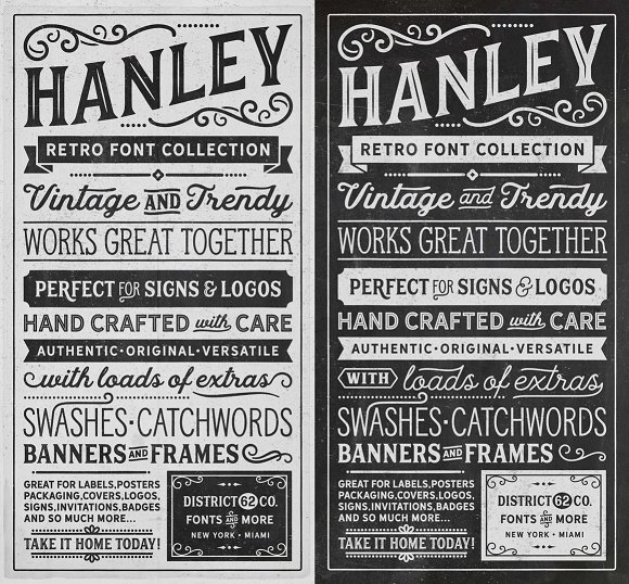 Hanley Font Collection in Script Fonts - product preview 2