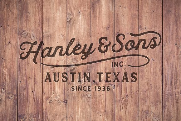 Hanley Font Collection in Script Fonts - product preview 10
