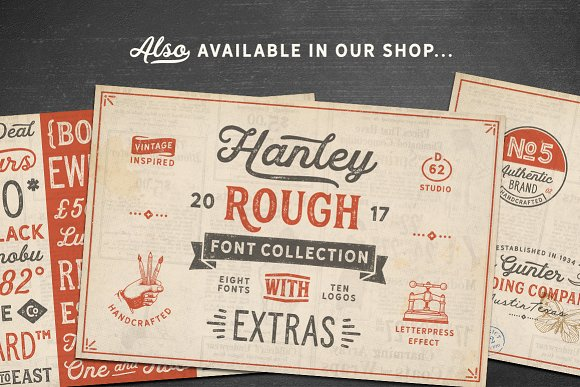 Hanley Font Collection in Script Fonts - product preview 24