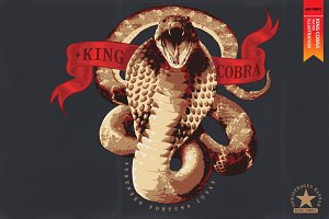 KING COBRA - Vector illustration