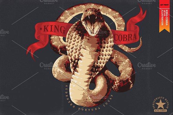 KING COBRA - Vector illustration