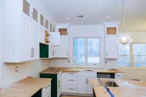 Blind corner cabinet, island drawers