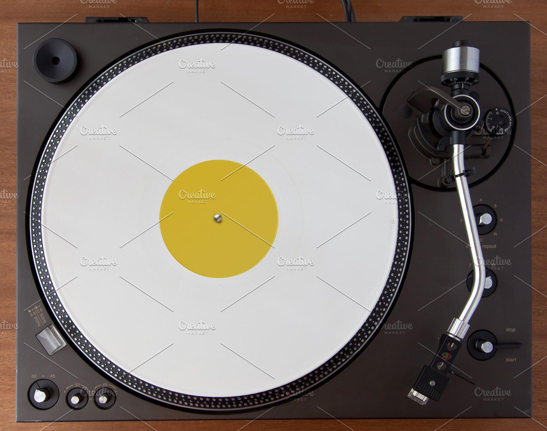 Vintage Vinyl Record Turntable
