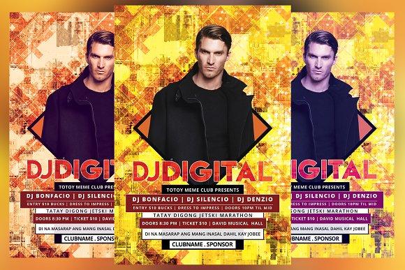 DJ Digital Flyer