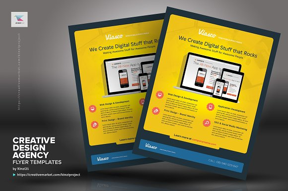 creative design agency flyers flyer templates creative market