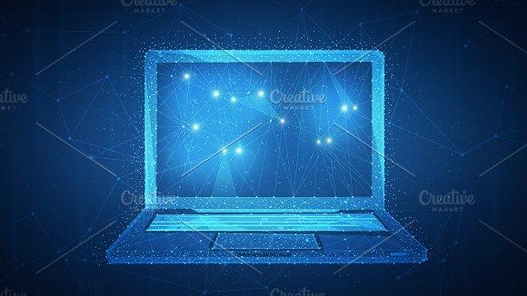 Polygon Laptop On Blockchain Hud Banner