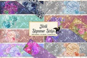 Floral Shimmer Strips