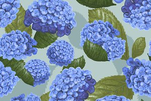 Illustration drawing Hydrangea (PSD)