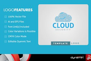 Cloud Security - Logo Template