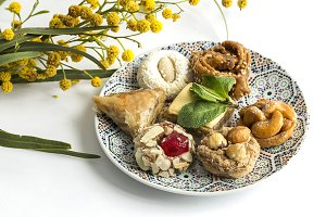 Moroccan typical sweets. Homemade