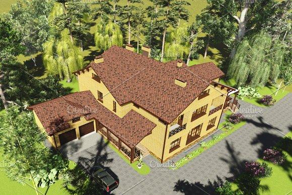 3D Visualization Brick House