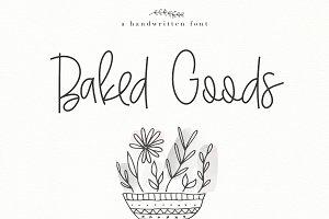 Baked Goods - Handwritten Font
