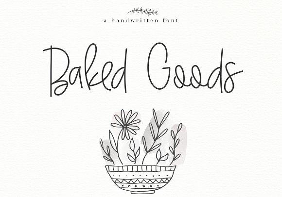 Baked Goods Handwritten Font