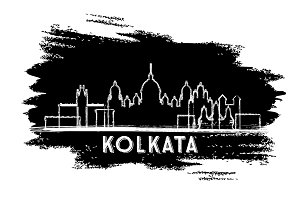 Kolkata India City Skyline