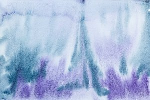 Blue indigo watercolor abstraction