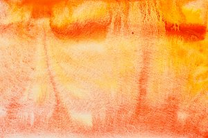 Red orange watercolor abstraction