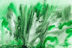 Watercolor abstract green black