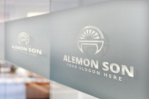 Alemon - Sun Orange Vector Logo