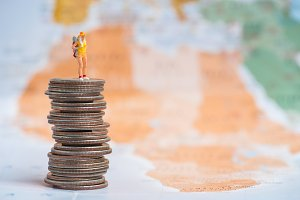travel miniature woman