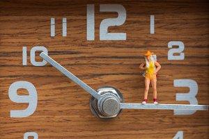 travel miniature woman standing