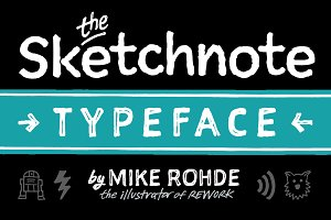 The Sketchnote Typeface: Full Family