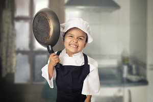 Funny chef girl