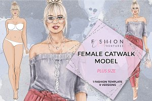 Female Catwalk Plus Size Model