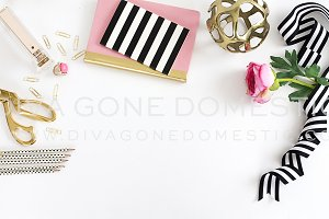 Styled Desk Top - Chic Pink Office