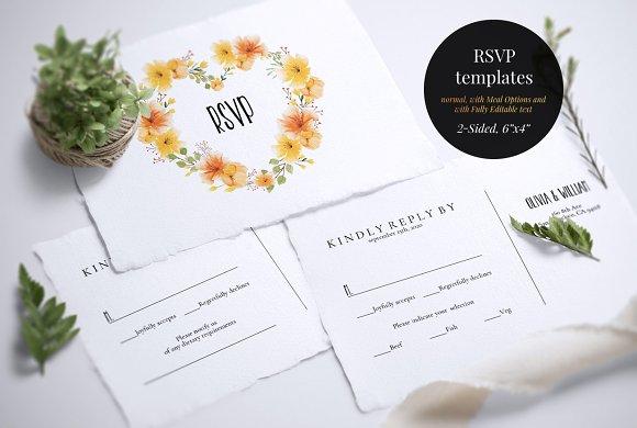 wedding invitation suite colorista invitation templates